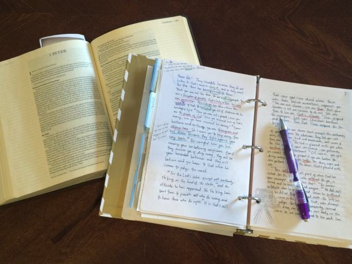 Write Scripture Journaling I Peter 2:21