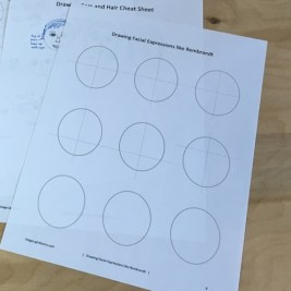 Drawing faces template
