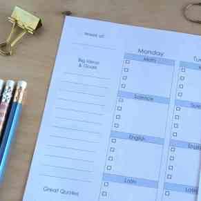 Printable Editable Teen Student Planner