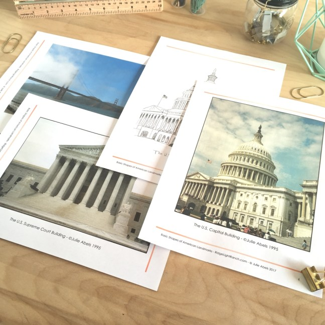 Art curriculum for drawing American Landmarks
