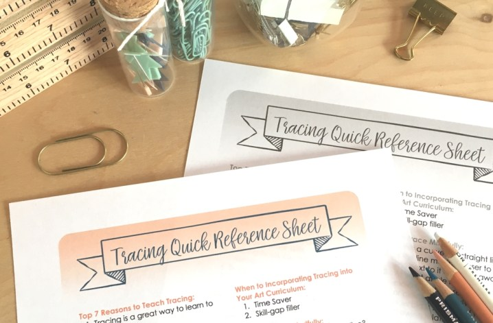 How to include tracing in art class