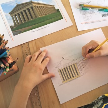 Coloring the Parthenon- web