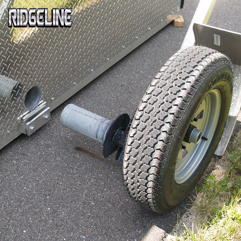 Fish houses ridgeline manufacturing creating high for Fish house drop down wheel kit