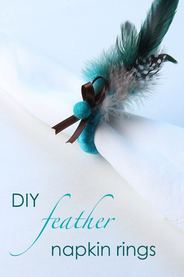 DIY Feather Napkin Rings (1) | Ridgely's Radar