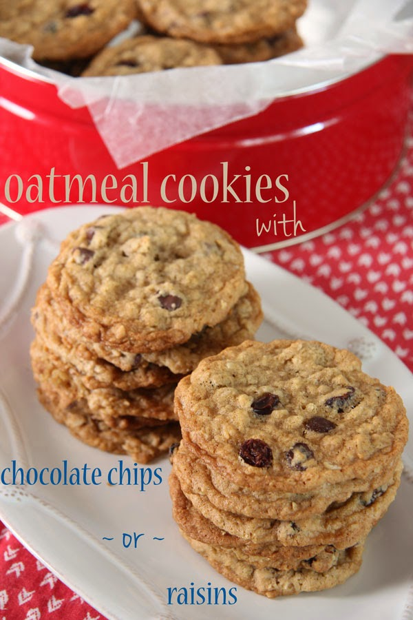 Oatmeal Cookies with Chocolate Chips or Raisins (1) | Ridgely's Radar