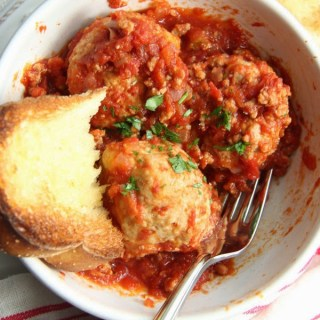Spicy Pork Meatballs with Spicy Meat Sauce