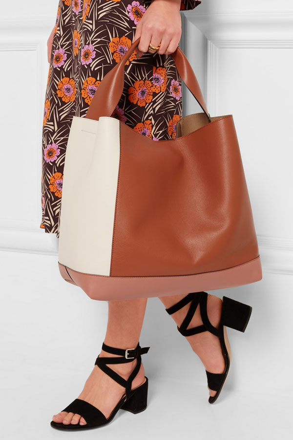 Marni pod color-block leather bag | Net-A-Porter