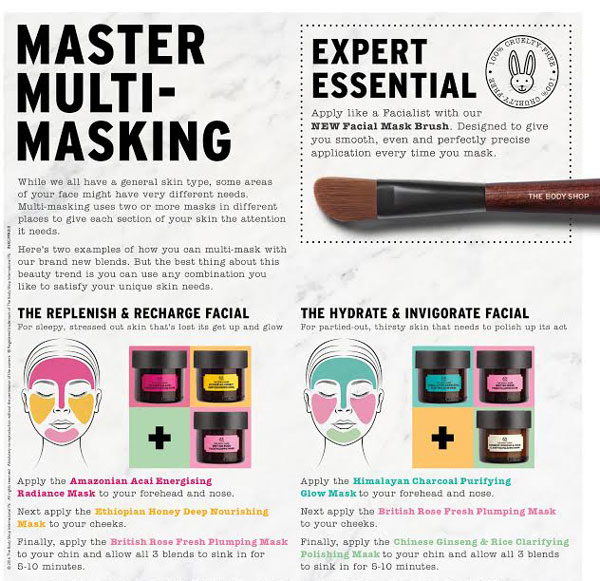 The Scoop on Multi-Masking | The Body Shop