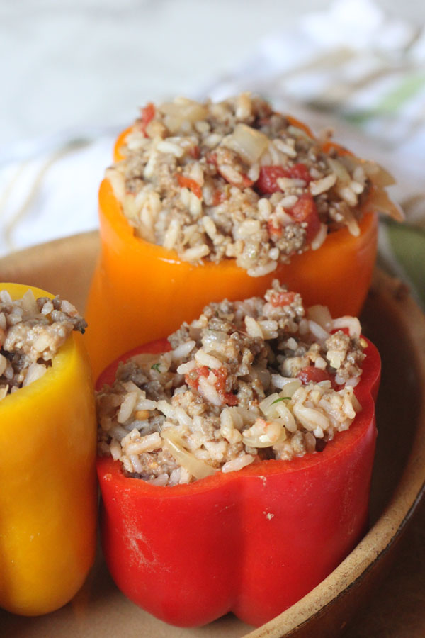 Stuffed Peppers with Sausage and Beef (Gluten Free) | Ridgely's Radar