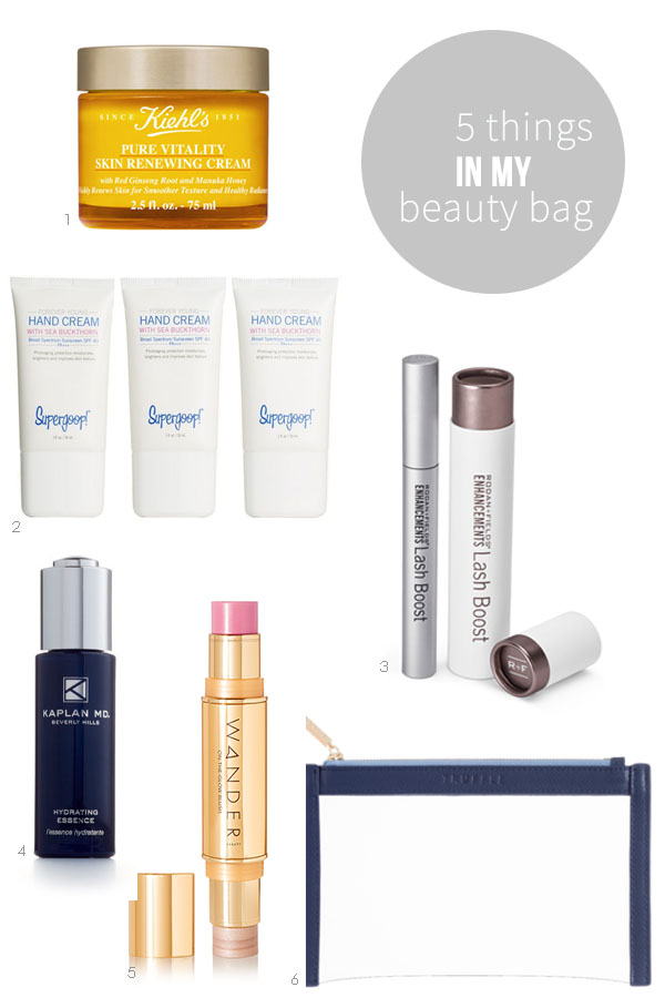 This month Ridgely Brode finds 5 things in her beauty bag that she is using and wants to use on her blog, Ridgely' Radar.