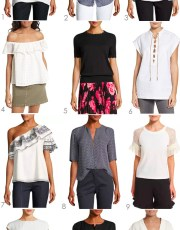 Ridgely Brode finds 12 short sleeve blouses that will pair well with her white, blue and black jeans on her blog Ridgely