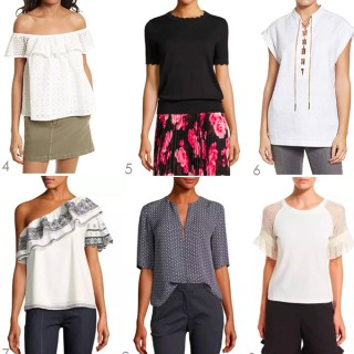 Ridgely Brode finds 12 short sleeve blouses that will pair well with her white, blue and black jeans on her blog Ridgely's Radar.