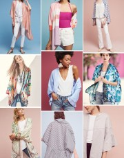 Ridgely Brode discovered Kimonos are not just for sleepwear and finds several she would like and shares them on her blog, Ridgely