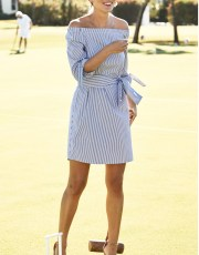 Ridgely Brode is always on the lookout for the perfect Summer dress and shares a new crisp striped find on her blog, Ridgely