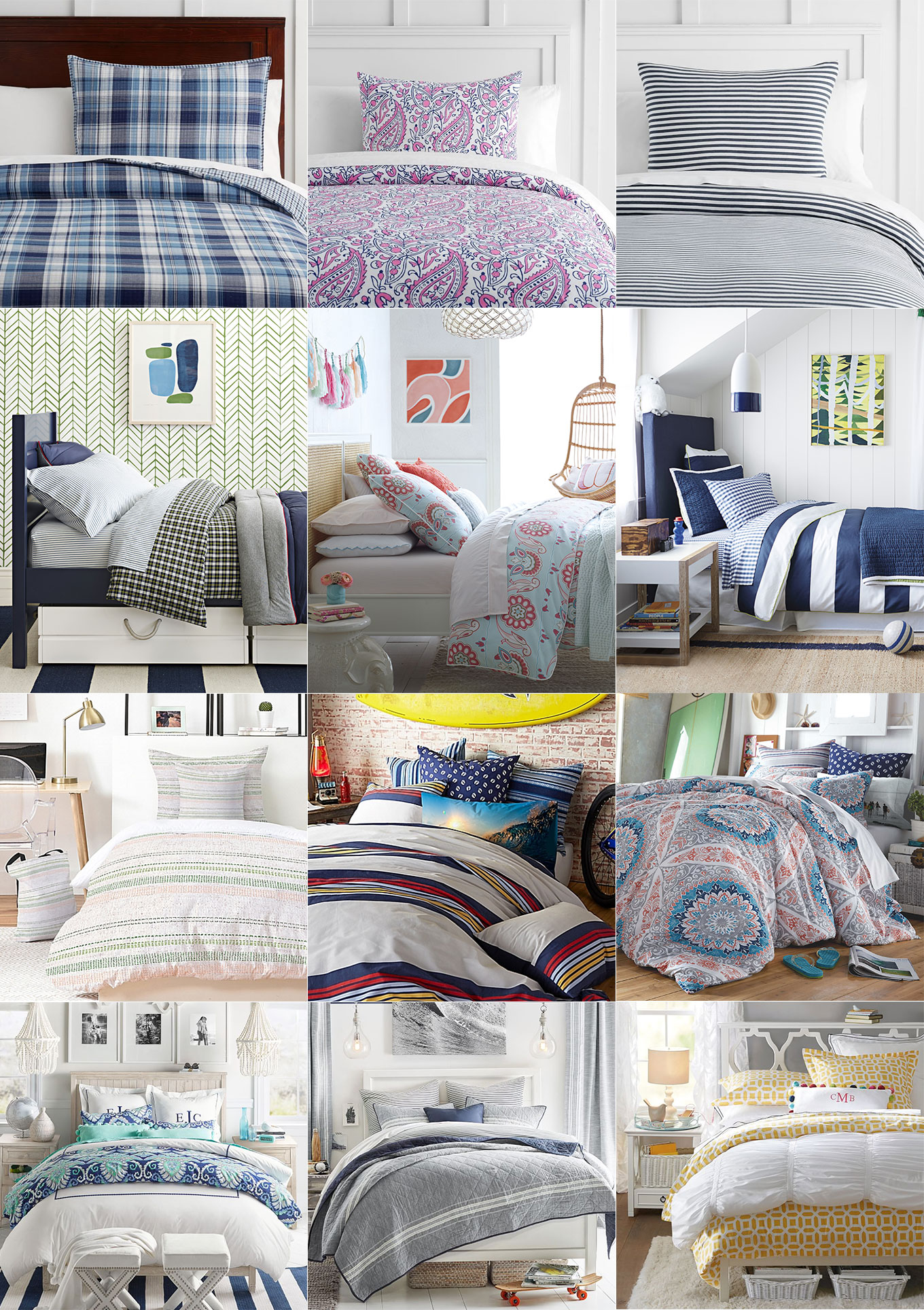 Ridgely Brode is looking for bedding for her sons for their dorm life and finds a options for both girls and boys on her blog, Ridgely's Radar.