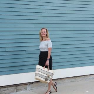 Scalloped Black Lace Skirt