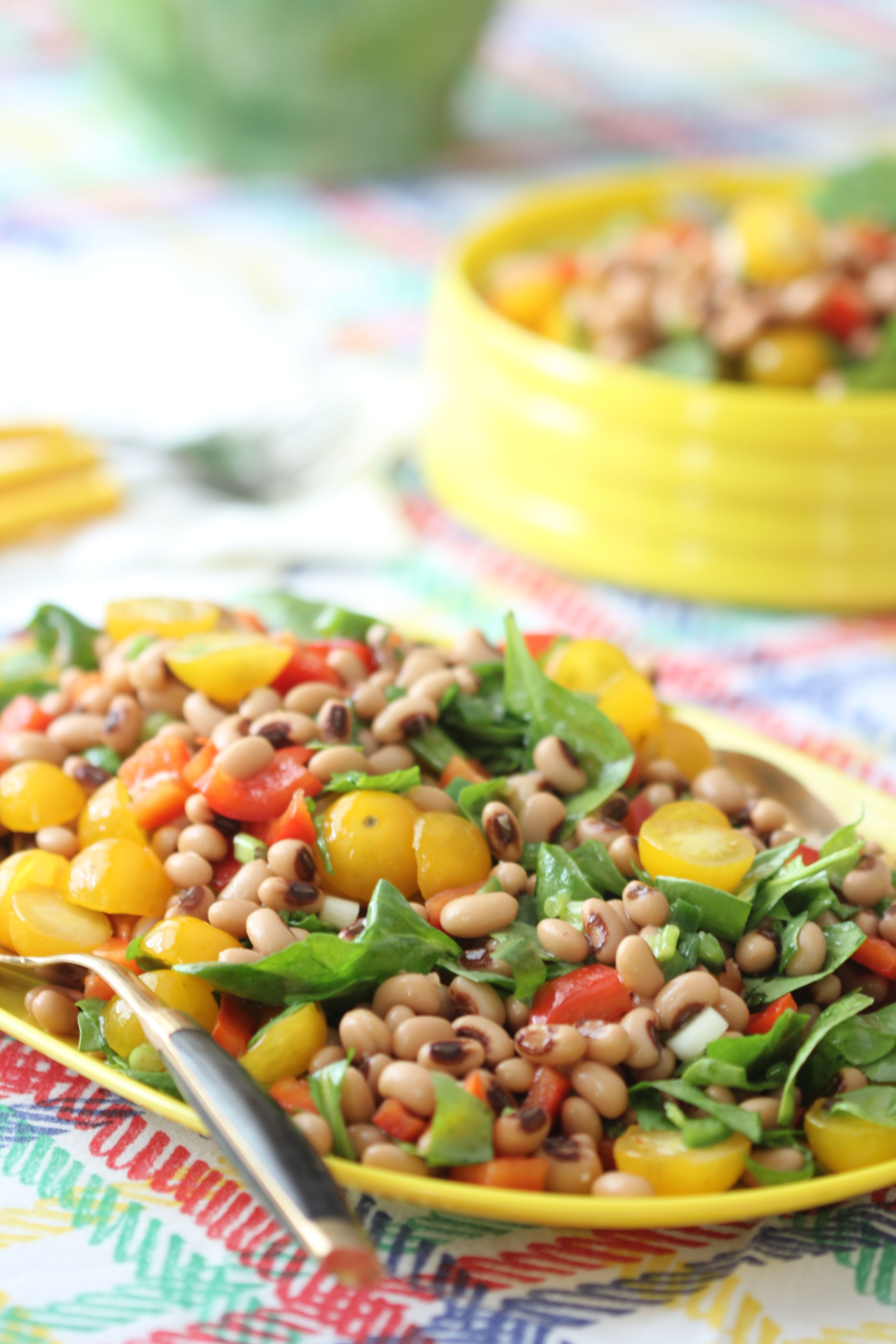 Ridgely Brode cooks up and shares the recipe for a delicious make ahead Black-Eyed Peas Salad on her blog, Ridgely's Radar.