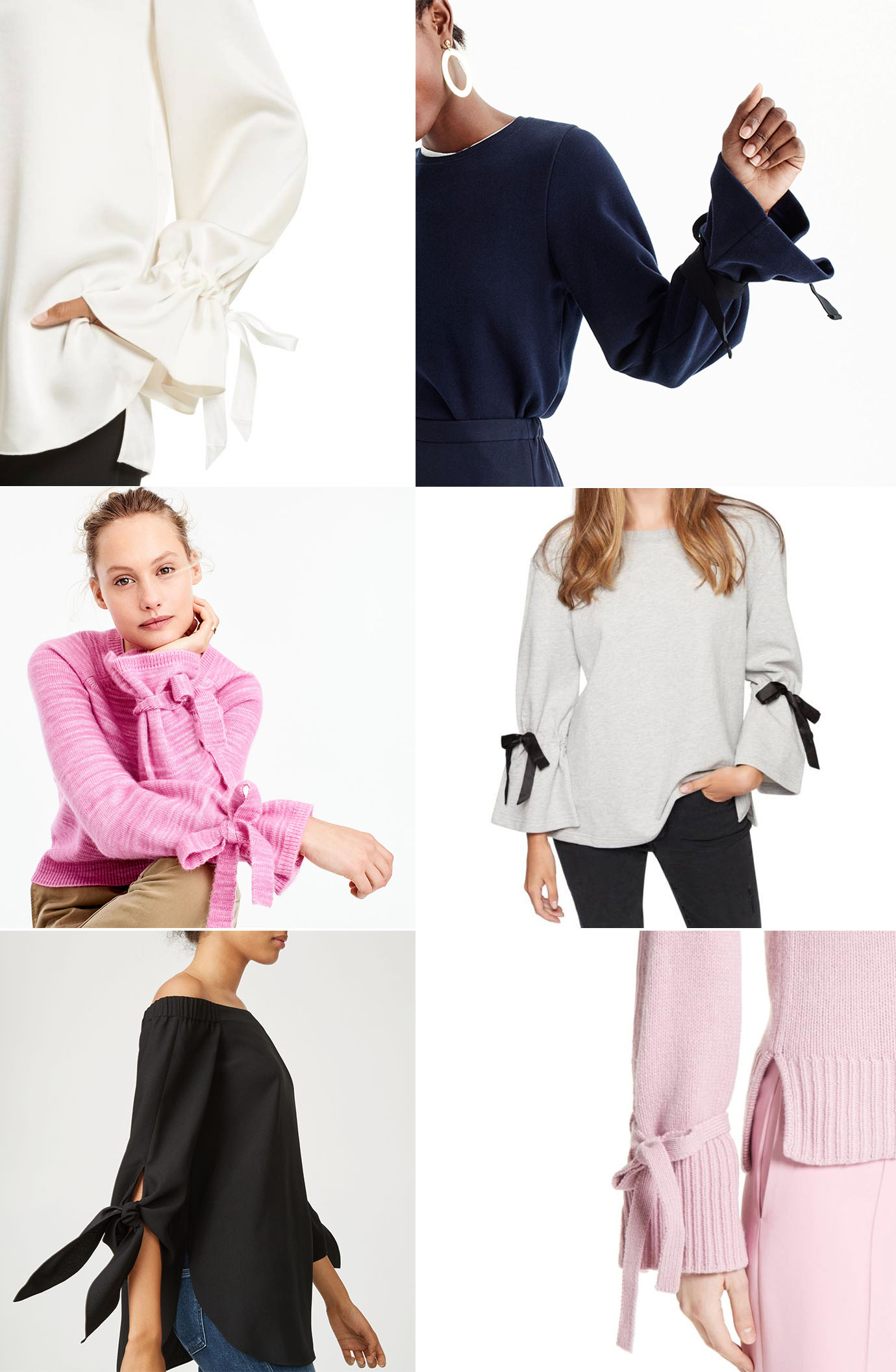 Ridgely Brode sources really good looking tie sleeve blouses and sweaters for her fall wardrobe on her blog, Ridgely's Radar.