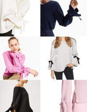 Ridgely Brode sources really good looking tie sleeve blouses and sweaters for her fall wardrobe on her blog, Ridgely