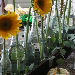 Setting a Fall Table with Grocery Store Flowers