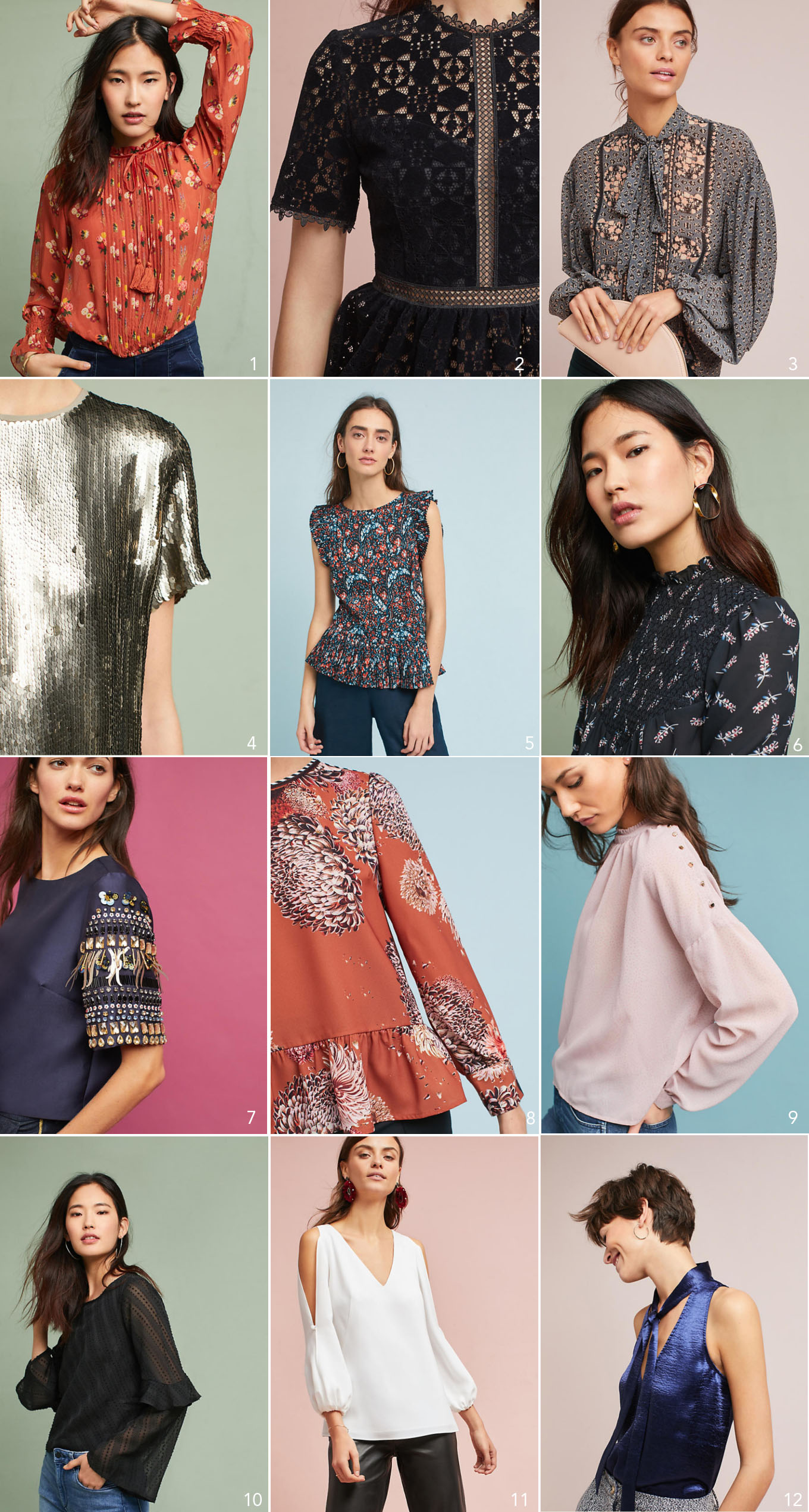 Looking for blouses to work with her neutral wardrobe, Ridgely Brode starts browsing Anthropolgie for ideas on her blog Ridgely's Radar.