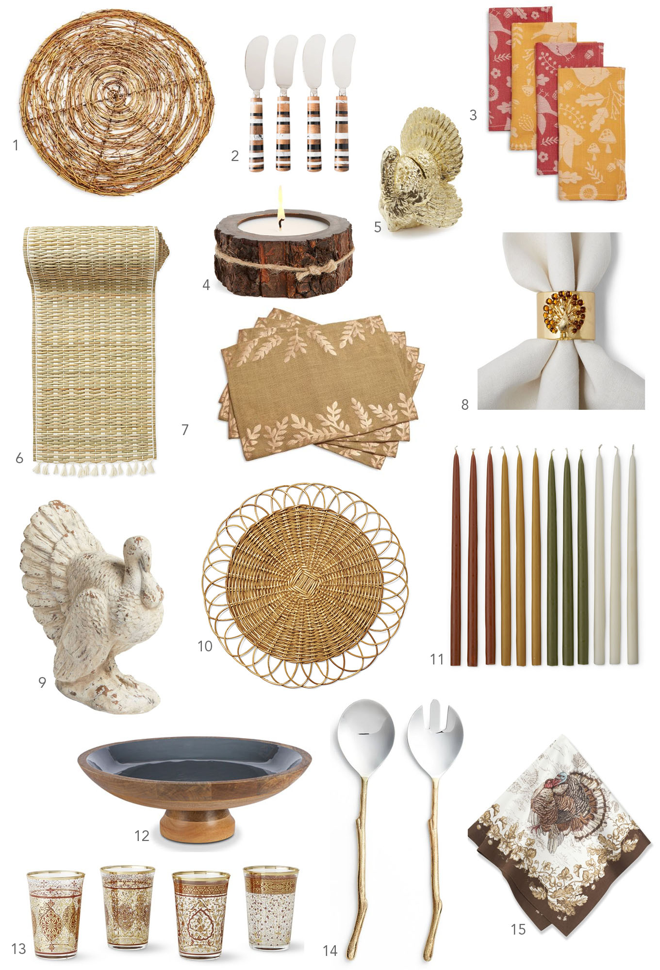 It is never to early to get ready for Thanksgiving and Ridgely Brode found 15 table accessories to get you inspired on her blog Ridgely's Radar.