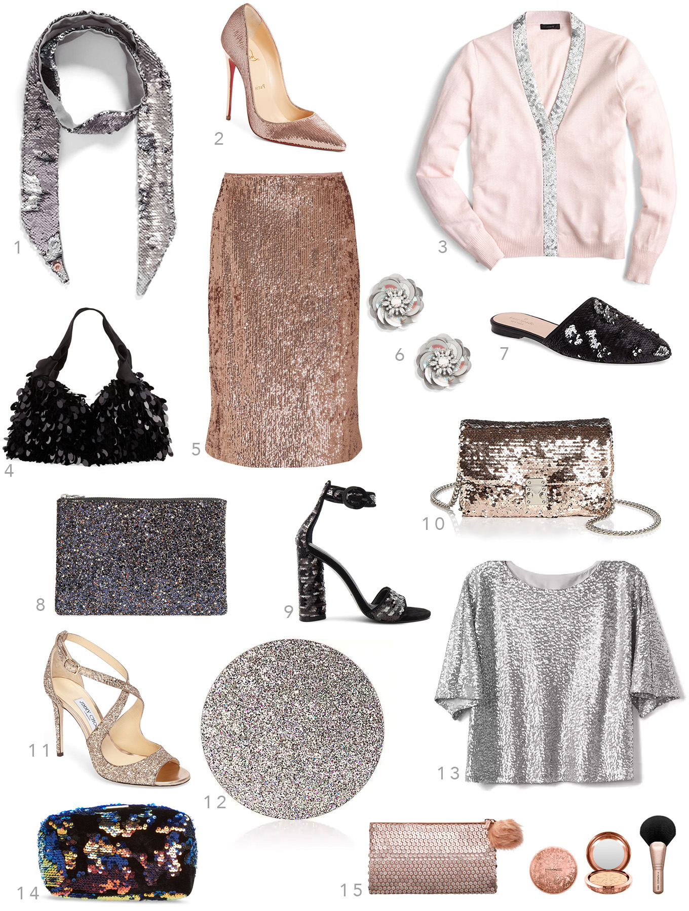 Ridgely Brode adds some shimmer to her holidays with sequins and festive pieces, she shares her finds on her blog, Ridgely's Radar.