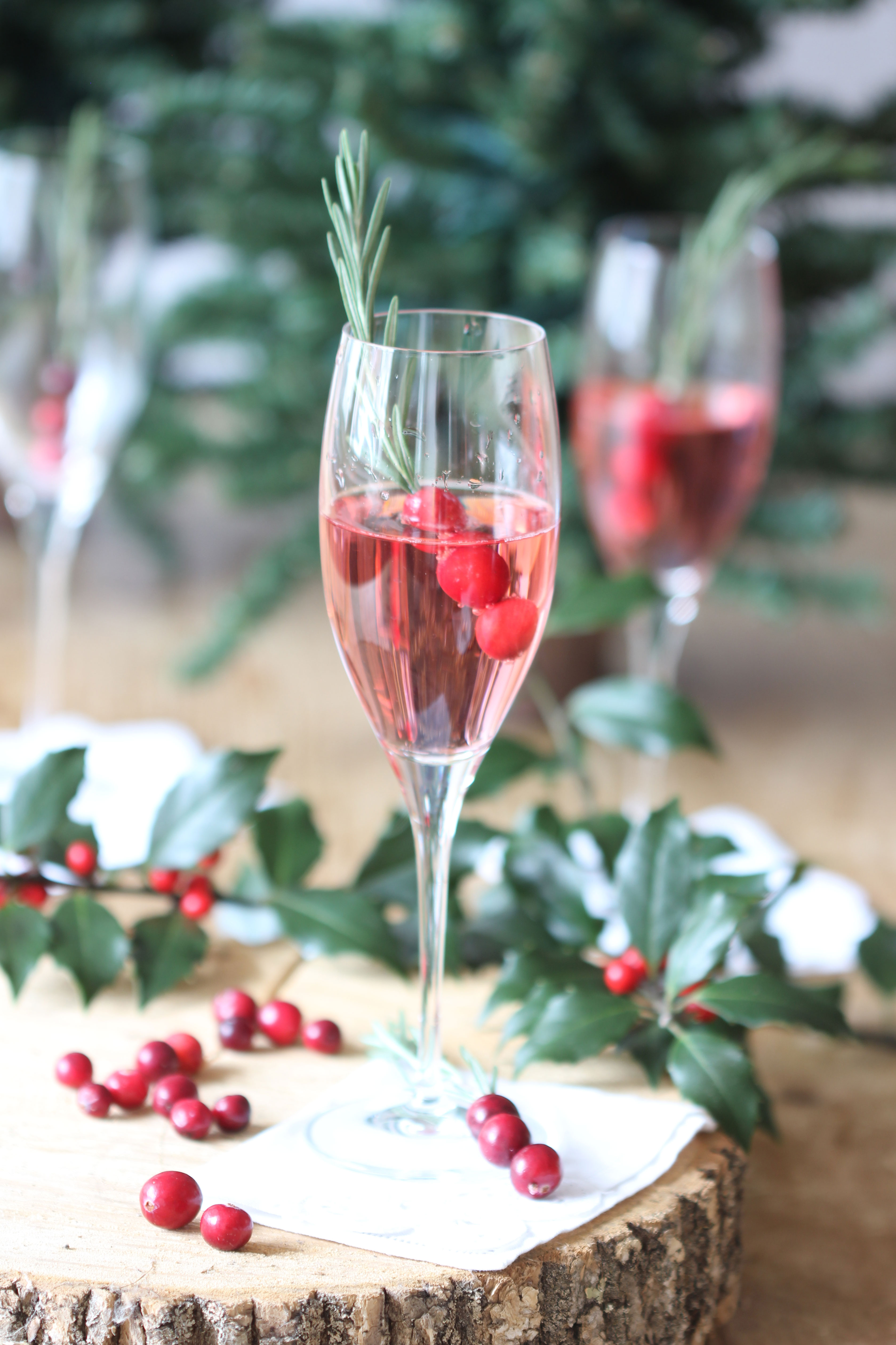 Celebrate the season with this festive and delicious Cranberry Rosemary Champagne Cocktail that Ridgely Brode serves up on her blog Ridgely's Radar.