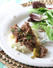 Need a dinner idea for a freezing cold weekend dinner? Ridgely Brode has just the recipe, Slow Cooker Mississippi Pot Roast, that is delicious and easy to make.