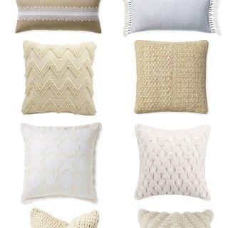 10 Textured Throw Pillows