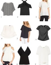 Ridgely Brode found 9 short sleeve tops that would work with both pants and skirts to share on her blog, Ridgely