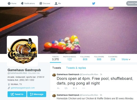 gamehaus twitter profile screengrab