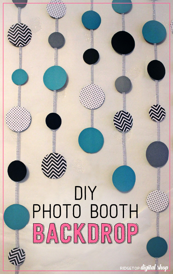 Ridgetop Digital Shop | DIY Photo Booth Backdrop | Paper | Duct Tape | Turquoise | Black | Silver