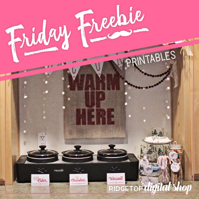 Friday Freebie: Hot Drinks Bar Printables