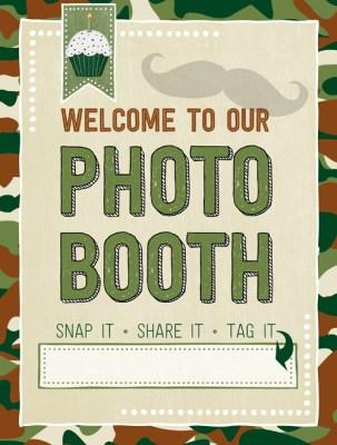 Ridgetop Digital Shop | Friday Freebie | Birthday Photo Booth Sign | Camo