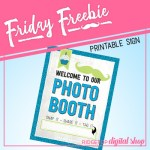 Friday Freebie: Cyan and Lime Photo Booth Sign
