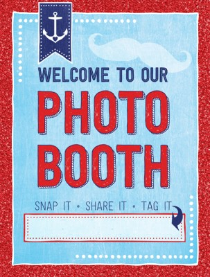 Ridgetop Digital Shop | Friday Freebie | Photo Booth Sign | Nautical | Birthday | Baby Shower