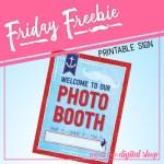 Nautical Photo Booth Sign Free Printable