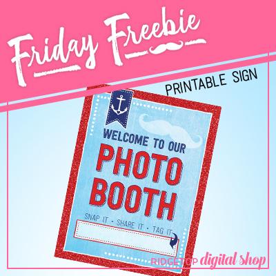 Nautical Party Photo Booth Sign Free Printable | Ridgetop Digital Shop