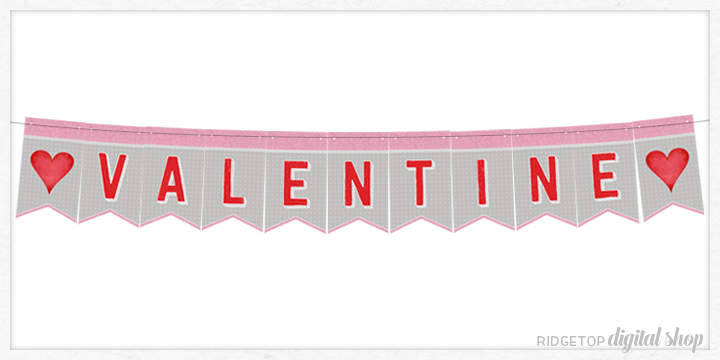 Ridgetop Digital Shop | Friday Freebie | Banner | Valentine's Day | Printable