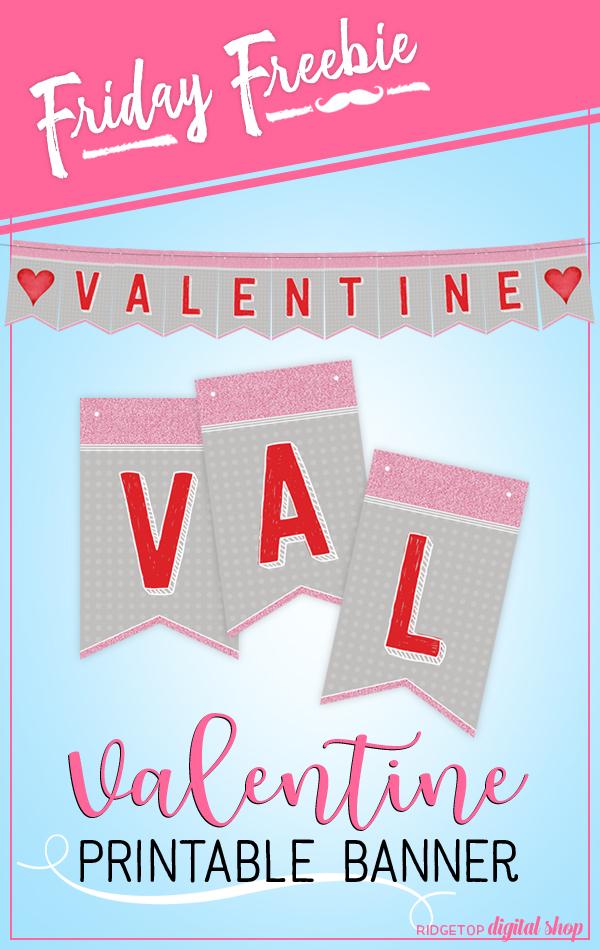 Ridgetop Digital Shop   Friday Freebie   Banner   Valentine's Day   Printable
