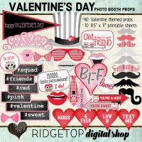 Ridgetop Digital Shop | Photo Booth Props | Valentine