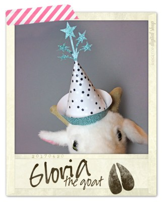 Ridgetop Digital Shop | Friday Freebie | 3D Printable Hat | Turquoise | Gloria the Goat
