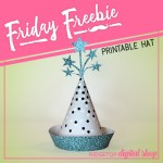 Friday Freebie: Turquoise Party Hat