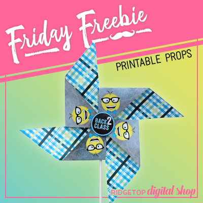 Friday Freebie: Back 2 Class Pinwheel