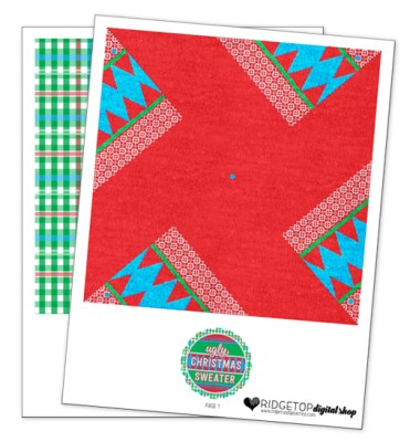 Ridgetop Digital Shop | Friday Freebie | Ugly Sweater Free Printable Pinwheel