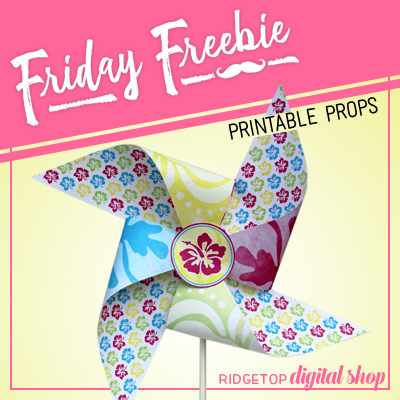 Friday Freebie: Tropical Pinwheel