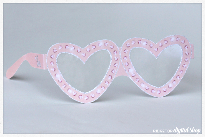 Celebrate Love Free Printable Glasses | Rose Gold Anniversary | Rose Gold Wedding Photo Booth Props | Ridgetop Digital Shop