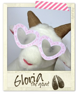 Ridgetop Digital Shop | Friday Freebie | Printable Glasses | Gloria the Goat