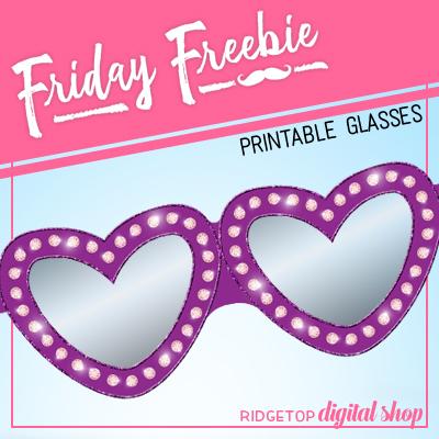 Friday Freebie: Valentine Glasses